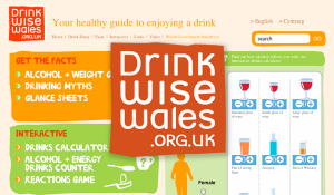 Drink Wise Wales – Website design
