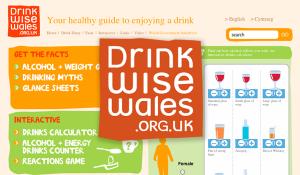 Drink Wise Wales – Website design