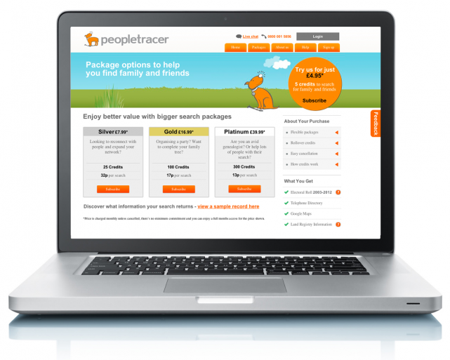 peopletracer website 2